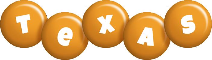Texas candy-orange logo