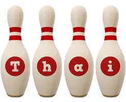 Thai bowling-pin logo