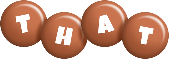 That candy-brown logo