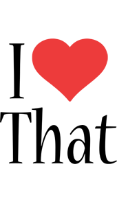 That i-love logo