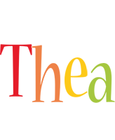 Thea birthday logo