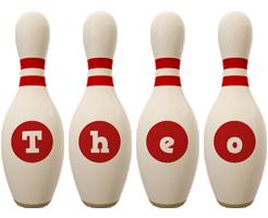 Theo bowling-pin logo