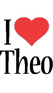Theo logo name logo generator i love love heart for I love design