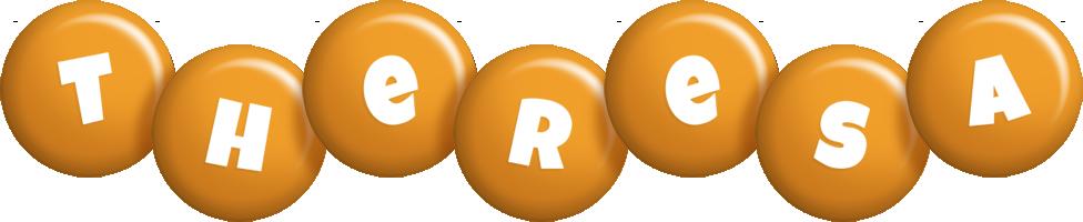 Theresa candy-orange logo