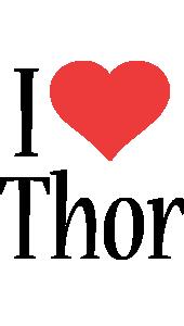 Thor i-love logo