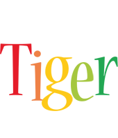 Tiger birthday logo