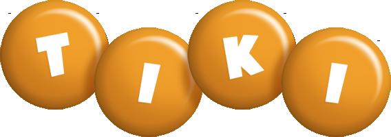 Tiki candy-orange logo