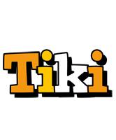 Tiki cartoon logo