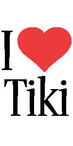 Tiki i-love logo