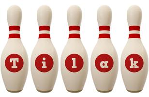 Tilak bowling-pin logo