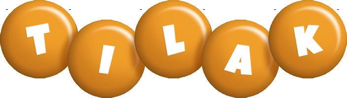 Tilak candy-orange logo