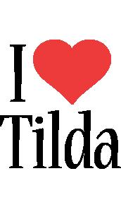 Tilda i-love logo
