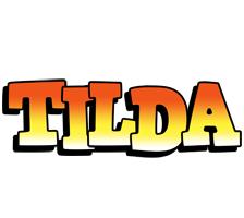 Tilda sunset logo