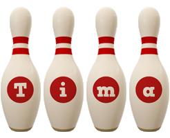 Tima bowling-pin logo