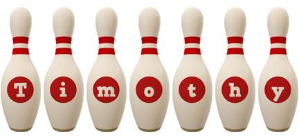 Timothy bowling-pin logo