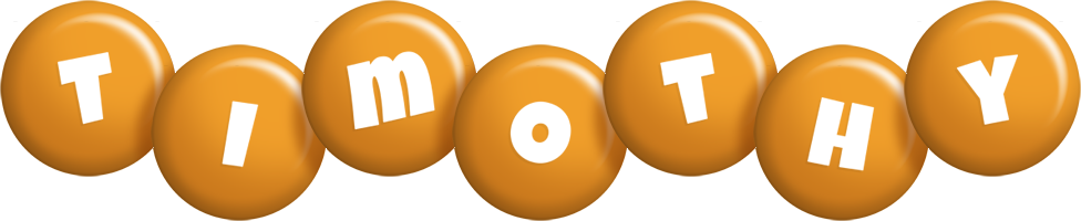 Timothy candy-orange logo