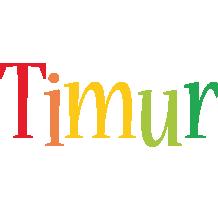 Timur birthday logo