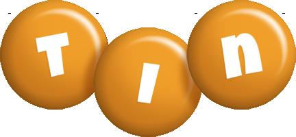 Tin candy-orange logo