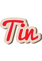 Tin chocolate logo
