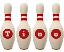 Tino bowling-pin logo