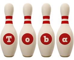 Toba bowling-pin logo
