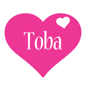 Toba love-heart logo