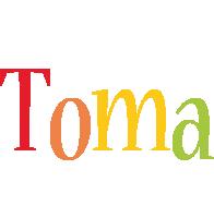 Toma birthday logo