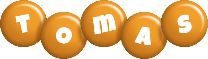 Tomas candy-orange logo