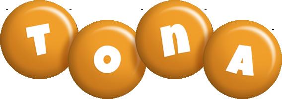 Tona candy-orange logo