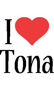 Tona i-love logo