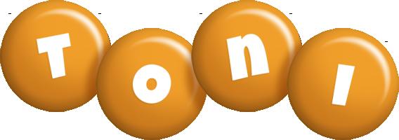 Toni candy-orange logo
