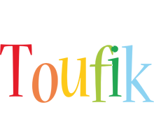 Toufik birthday logo