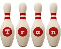Tran bowling-pin logo