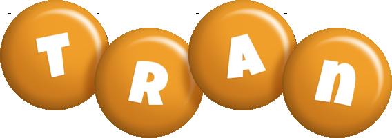 Tran candy-orange logo
