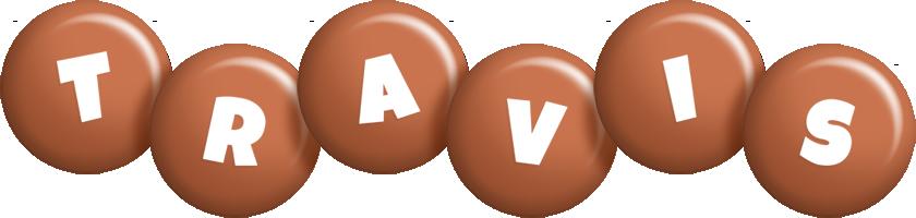 Travis candy-brown logo