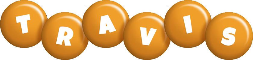Travis candy-orange logo