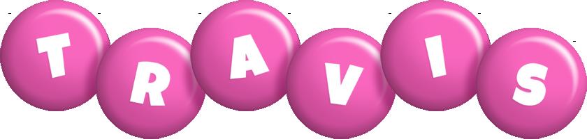 Travis candy-pink logo