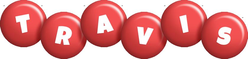 Travis candy-red logo