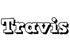 Travis snowing logo