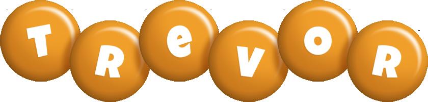 Trevor candy-orange logo