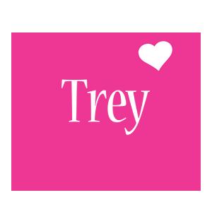 Trey love-heart logo