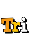 Tri cartoon logo