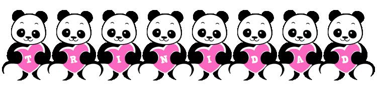 Trinidad love-panda logo