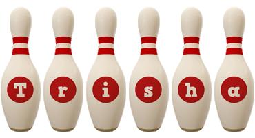 Trisha bowling-pin logo