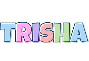 Trisha pastel logo