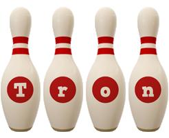 Tron bowling-pin logo