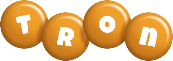 Tron candy-orange logo
