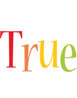 True birthday logo