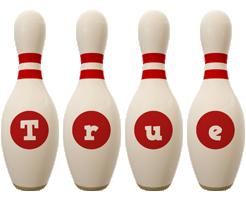 True bowling-pin logo