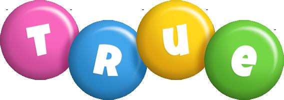 True candy logo